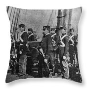 Civil War: Uss Kearsarge Throw Pillow