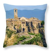 Civita Di Bagnoregio, Lazio, Italy Throw Pillow