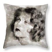 Clara Bow Vintage Hollywood Actress Throw Pillow