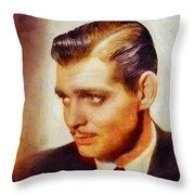 Clark Gable, Vintage Hollywood Actor Throw Pillow