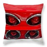 Classic Car Tail Lights Throw Pillow