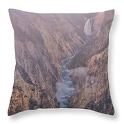 Classic Lower Falls Throw Pillow