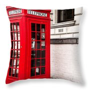 Classic Red London Telephone Box Throw Pillow