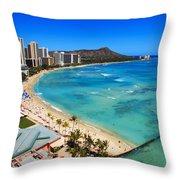 Classic Waikiki Throw Pillow