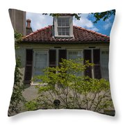 Clay Tile Roof Throw Pillow