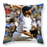 Clayton Kershaw, Los Angeles Dodgers Throw Pillow