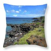 Clear Blue Ocean Throw Pillow