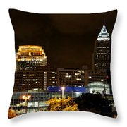 Colorful Sky Above The City On The Shore Throw Pillow