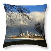 Cleveland Winter Dawn Throw Pillow