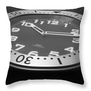 Clock Face Throw Pillow