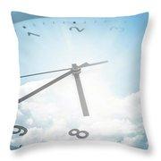 Clock In Sky 2 Throw Pillow