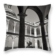 Cloister Real Colegio Seminario Del Corpus Christi Throw Pillow