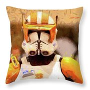 Clone Trooper Commander - Free Style Style Throw Pillow