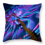Close-up Of Paper Windmills Throw Pillow