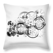 Cloud Made By Gears Wheels  Throw Pillow by Setsiri Silapasuwanchai