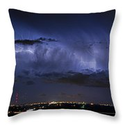 Cloud To Cloud Lightning Boulder County Colorado Throw Pillow