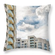 Clouds And Buildings Throw Pillow