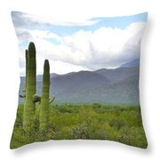 Clouds Over The Mountains Throw Pillow