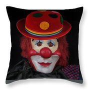 The Clown 3 Throw Pillow