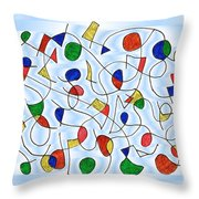 Clown Memory Cells Blue Throw Pillow