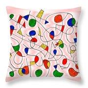 Clown Memory Cells Pink Throw Pillow