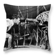 Clyde Beatty (1903-1965) Throw Pillow