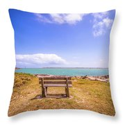 Coastal Landscape Near Padre Island Texas Throw Pillow