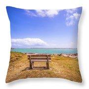 Coastal Landscape Near Padre Island Texas Throw Pillow