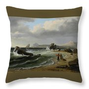 Coastal Scene Throw Pillow