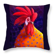 Cock A Doodle Dude Throw Pillow