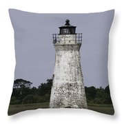 Cockspur Lighthouse Throw Pillow
