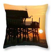 Cocoa Beach Pier/sunrise Throw Pillow