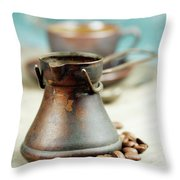 Coffee Composition Throw Pillow