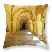 Coimbra Cathedral Colonnade Throw Pillow