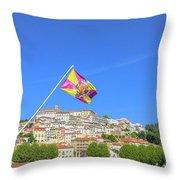 Coimbra Skyline Portugal Throw Pillow
