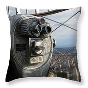Coin Operated Viewer Throw Pillow by Debbie Cundy