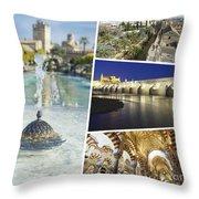 Collage Of Cordoba  Throw Pillow