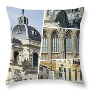 Collage Of Vienna Throw Pillow