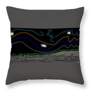 Collage Tombstone Arizona 1882 Vincent Van Gogh Starry Night Sky 1887-2008 Throw Pillow
