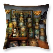 Collector - Hats - The Hat Room Throw Pillow by Mike Savad