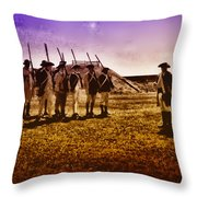 Colonial Soldiers At Fort Mifflin Throw Pillow