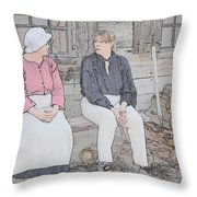 Colonials At Rest Throw Pillow
