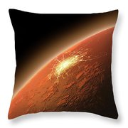 Colonization Of Mars Throw Pillow