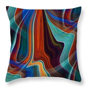 Color Me Abstract Throw Pillow