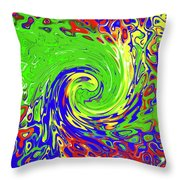 Color Spin Throw Pillow