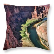 Colorado River Flows Around Horseshoe Bend  Throw Pillow