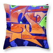 Colorful Abstract Street Art  Throw Pillow