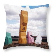 Colorful Cars Throw Pillow