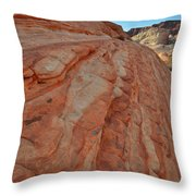 Colorful Sandstone Wave In Valley Of Fire Throw Pillow