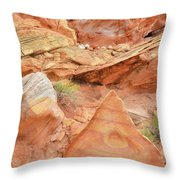 Colorful Wash 3 In Valley Of Fire Throw Pillow